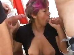 Mature granny learning gangbang sex tube porn video