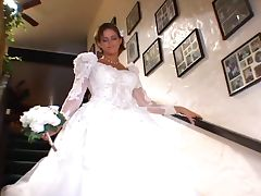Beautiful Bride In Wedding Day Threesome By Blondelover tube porn video