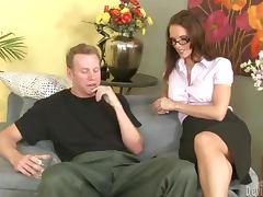 Jennifer Dark the sexy teacher getting fucked hard as she likes tube porn video