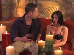 Rebeca Linares Has a Drink and Eats a Hard Dick tube porn video
