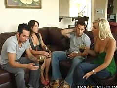 Swingers Night With The Hot Brunettes Penny Flame And Rebeca Linares tube porn video