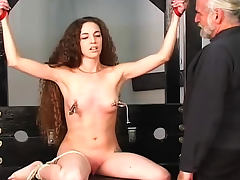 Tattooed girl in nipple torture scene tube porn video