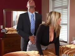 Sensual Blonde Dayna Vendetta Bangs a Big Dick Cowgirl and Doggy Style tube porn video