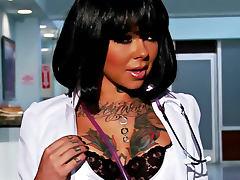 Johnny Sins nails tattooed nurse Julia Bond tube porn video