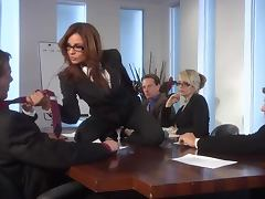 Threesome With Redhead Kirsten Price In The Office Before a Night Orgy tube porn video