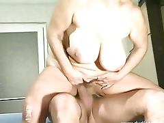 Hairy Granny Gets A Hardcore Fuck From A Big Cock tube porn video