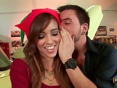 Melanie Rios Gets a Dirty Christmas in the Auto Shop tube porn video