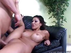Ava Devine the lovely brunette gets fucked on a sofa tube porn video