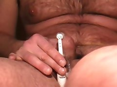 selfsuck cum with electrical toothbrush tube porn video