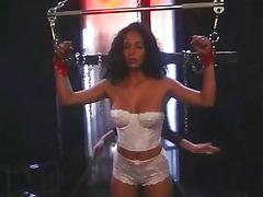 Ebony lesbian passionate toy sucking tube porn video