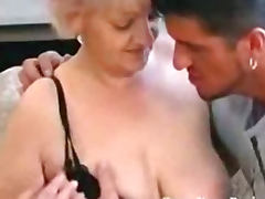 Busty Granny in Stockings Loves Cock tube porn video
