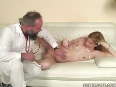 Gyno examination ending up with a real hot sex tube porn video