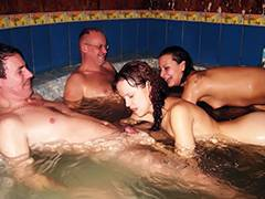 Mature Swinger Pool Party tube porn video