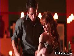 Horny redhead babe Marie McCray blows tube porn video