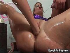 Nasty blonde slut goes crazy tube porn video