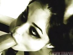 Sasha Grey Deepthroats and Gets Fucked in Black and Whitish Clip tube porn video
