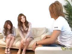 Horny Natsu and Seira are having a lesbian sex tube porn video