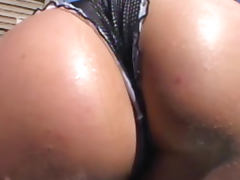 Luscious Lopez shows her ass before blowjob tube porn video