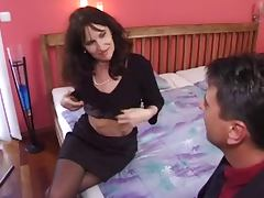 mature milf in stockings gets a good fuck tube porn video