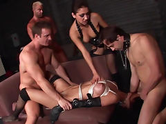 Jennifer Dark being banged by a gang of guys tube porn video