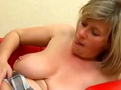 Busty mature Marina Montana gets her first fuck tube porn video
