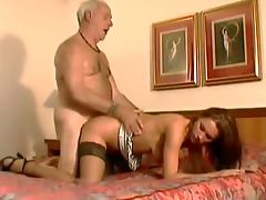 Old Man Shows An Sexy Teen What He's Made Of tube porn video