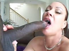 Sexy Milf strips sucks fucks and takes BBC in her ass tube porn video