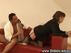 Stocking british milf footjob tube porn video