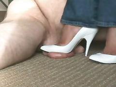 WHITE HEELS tube porn video