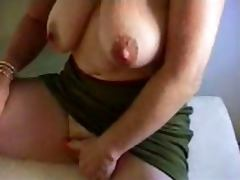 Granny masturbates big clit tube porn video