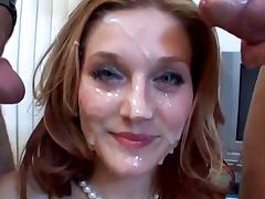 Pretty Face Covered in Cum tube porn video