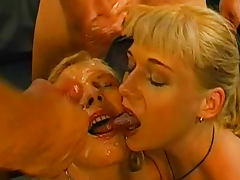 Sweet blonde being covered with tasty sperm as she loves tube porn video