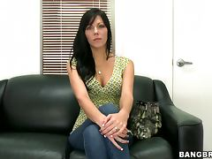Jade the hot brunette rides a cock and fondles her pussy tube porn video