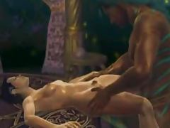 Erotic animation with sexy human in a group sex with alliens tube porn video