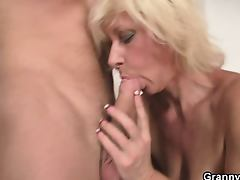 Pretty blonde gets doggystyled tube porn video