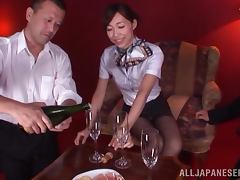Sexy Japanese girl drinks champagne and gets nailed tube porn video