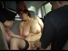 Granny car fun tube porn video