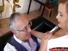 Candy Alexa Sucks and Fucks some old guy tube porn video