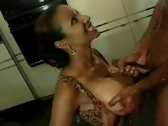 Black Busty compilation titfucking and facials tube porn video