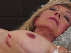 Blonde granny gets her old pussy fucked hard and deep tube porn video