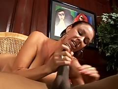 Exotic mother I'd like to fuck sucks giant darksome ding dong as well as his cigarette tube porn video