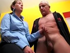 German Tugjob tube porn video