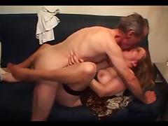 German Grandpa cums in tube porn video