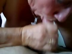 Granny sucks and swallows tube porn video