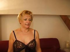 FRENCH MATURE 7 blonde mom milf and a young man tube porn video