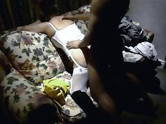 Husband films white wife taking it black tube porn video