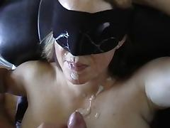 Blindfold facial hot wife tube porn video