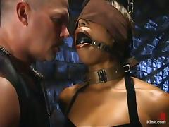 Interracial Bondage and Domination Session with Ebony Marie Luv tube porn video