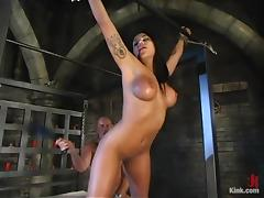 Jenaveve Jolie and Mark Davis have amazing banging in hot BDSM scene tube porn video