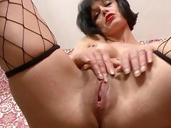 Milf Barbie Stroker Fishnets on the desk tube porn video